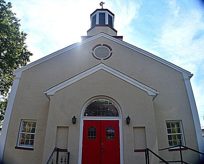 Closeup of the church