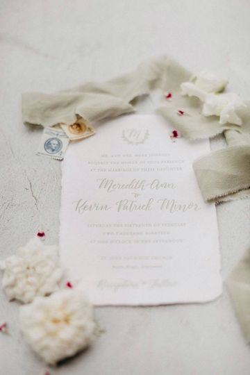 Sophisticated wedding stationery
