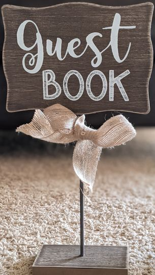 Guest book decor