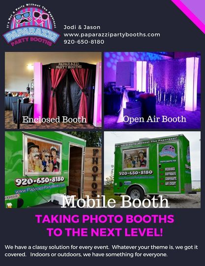 Mobil Booth is awesome for outdoor receptions!