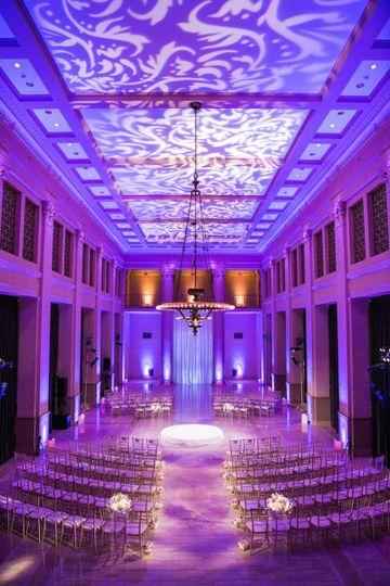 Ceiling monogram lighting