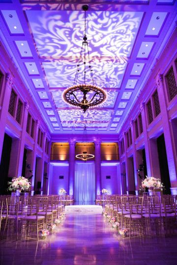 Wedding venue indoors