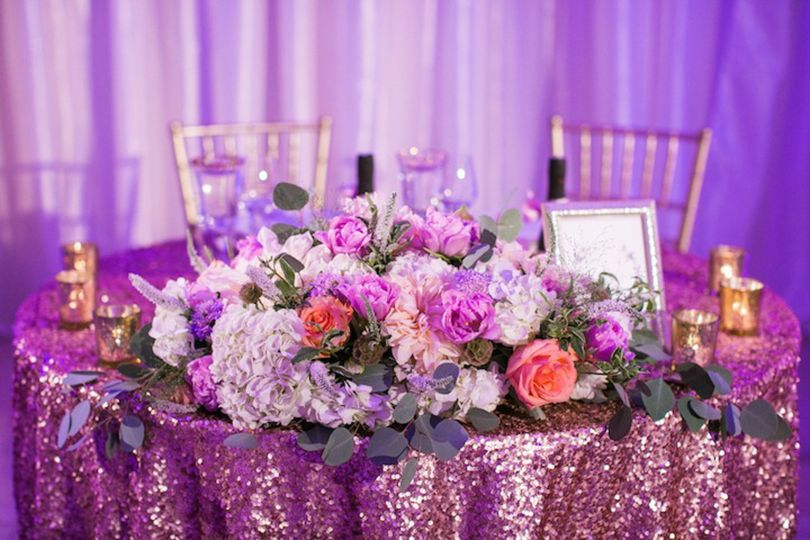 Pink sparkly linens