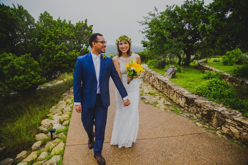 ATX wedding walkway at Chapel Dulcinea