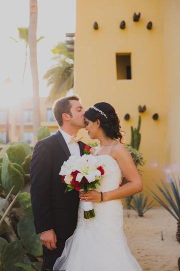 Wedding couple in Cabo, Mexico