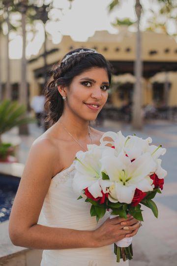 Bride in Cabo, Mexico