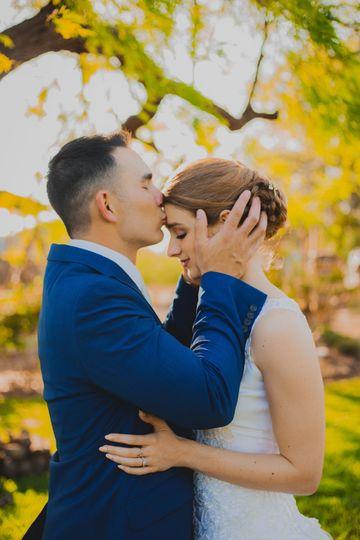 South Texas wedding couple
