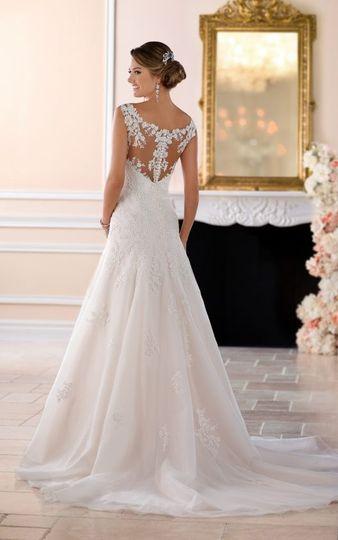 Back detailing of wedding dress