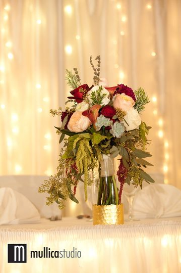 Flowers as centerpiece