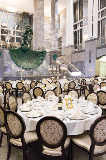Elegant fine dining area
