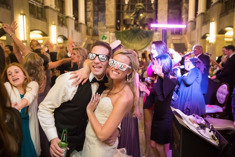 Happy couple with their personalized shades