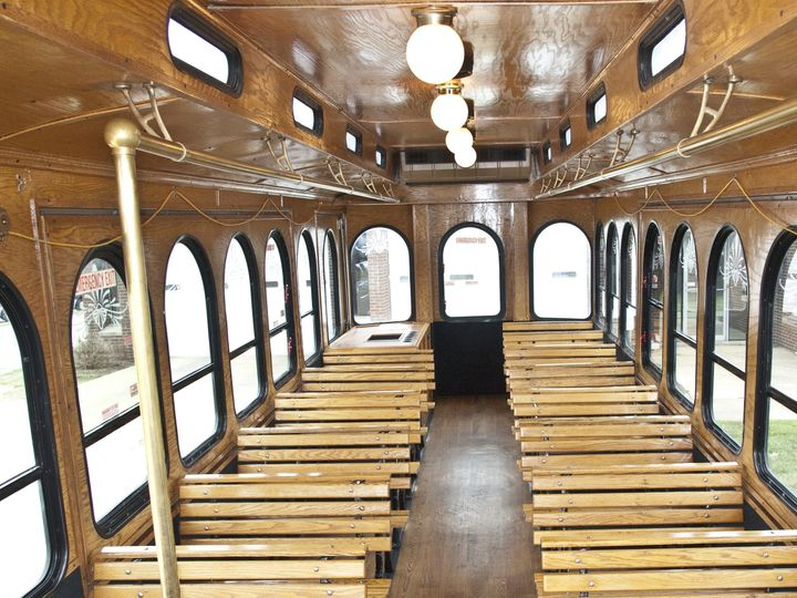 Tmx 1420496327828 Trolley Inside Front B Wickliffe wedding transportation
