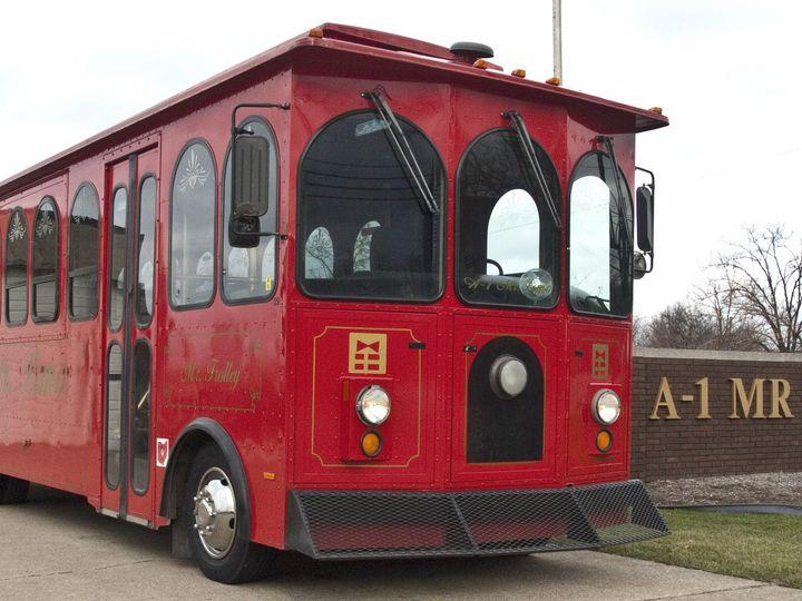 Tmx 1420496349352 Trolley Outside Front A Wickliffe wedding transportation