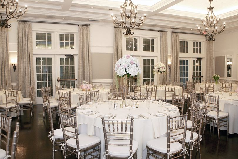 A reception in the ballroom