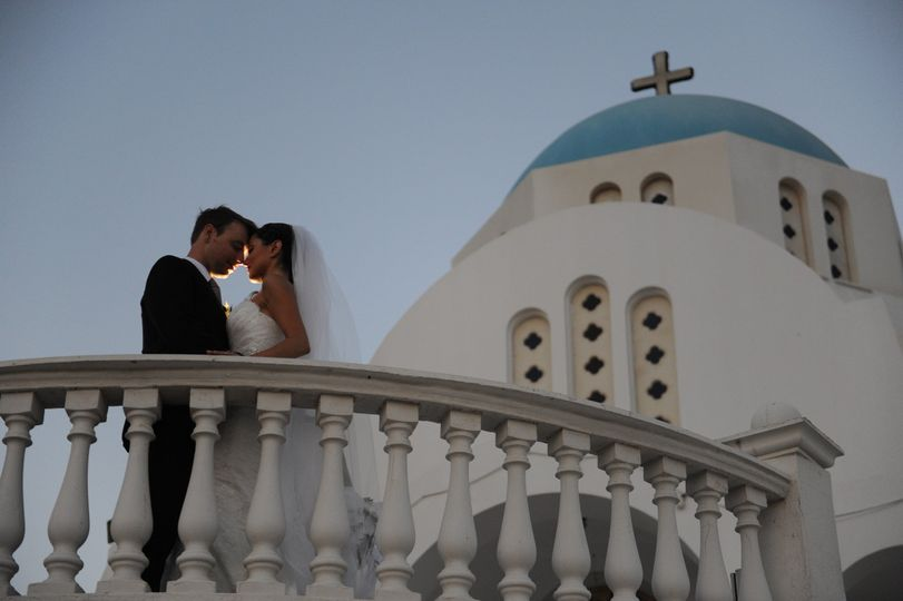 Couple at the balcony