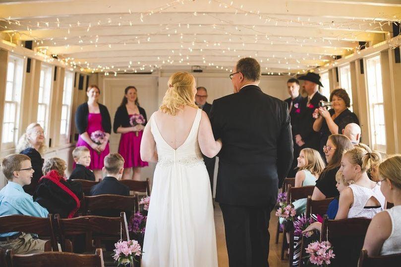 I&M Canal Boat Wedding