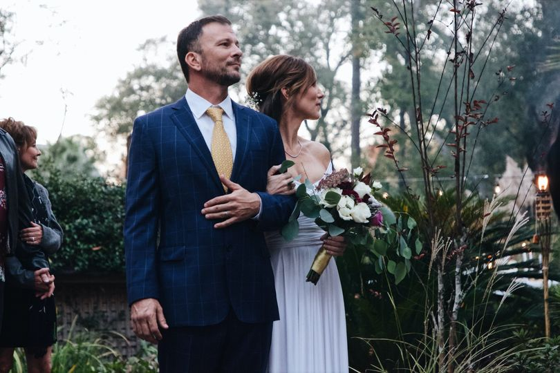 Looking at her groom