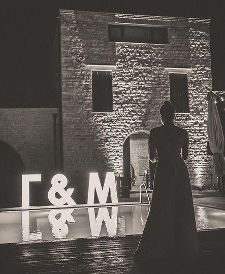 Bride's silhouette
