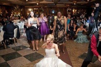 dancing with bride