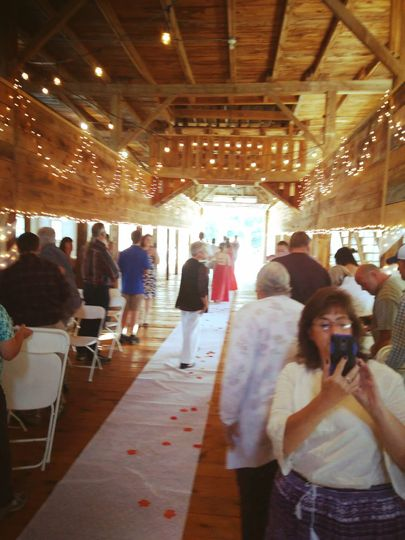 Indoor ceremony to reception