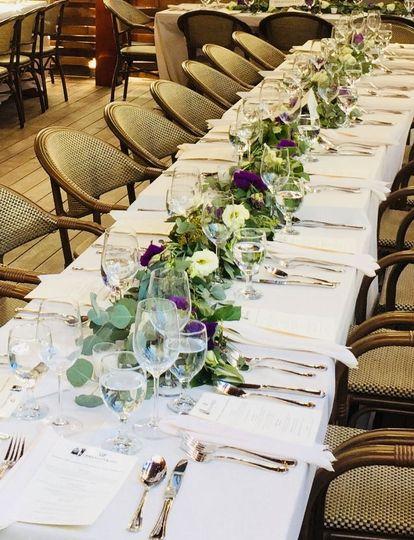 Wedding table set & ready