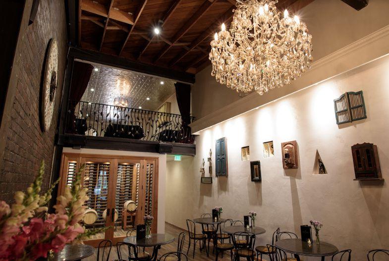 Winery main fancy chandelier