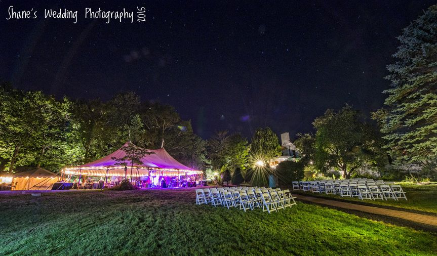 Tented receptions up to 200