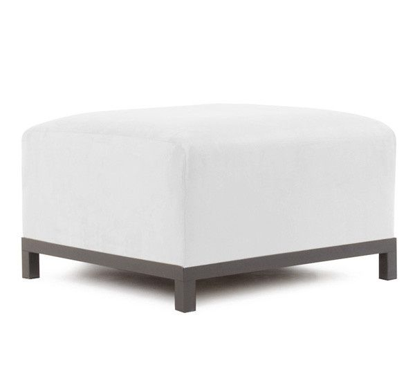 White modular modern ottoman