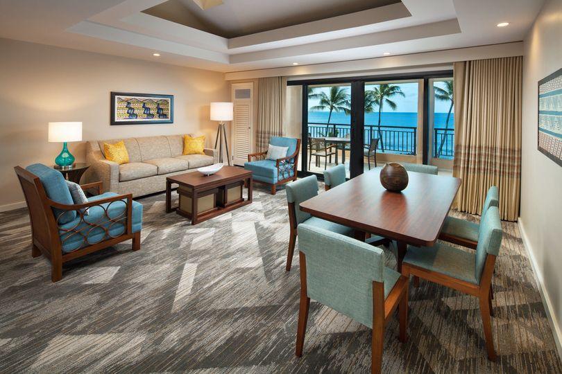 Deluxe Oceanfront Suite - Living Area