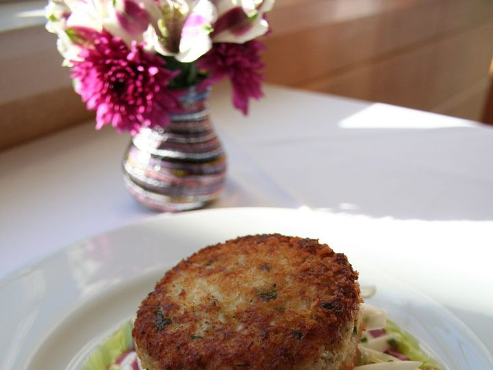 Tmx 1368639257537 Maine Crabcake With Wine Grapes And Endive Michaels On The Hill Waterbury Center wedding catering