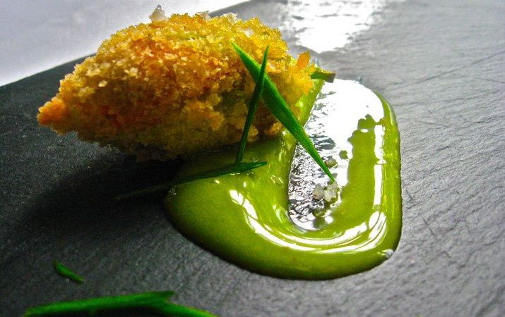 Tmx 1396626761733 Squash Blossom Fritter Stuffed With Foie Gras And  Waterbury Center wedding catering