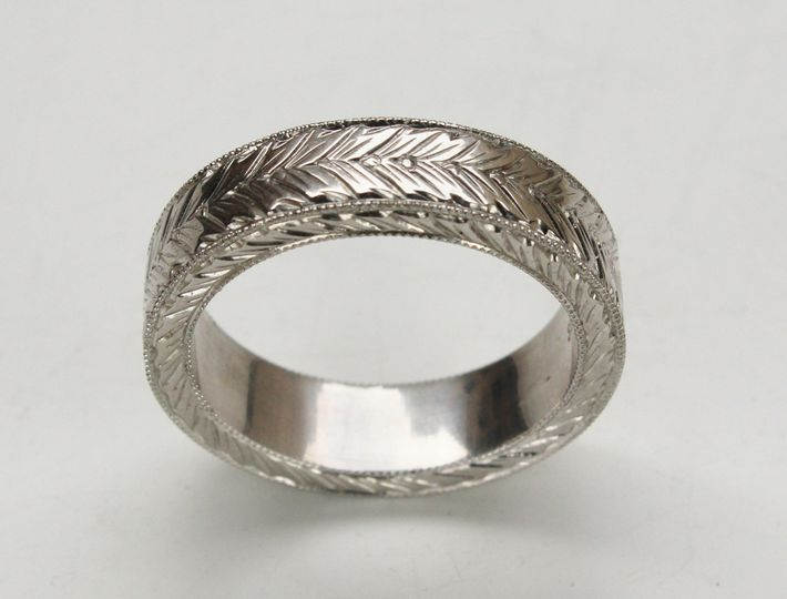 hand carved mens ring 2