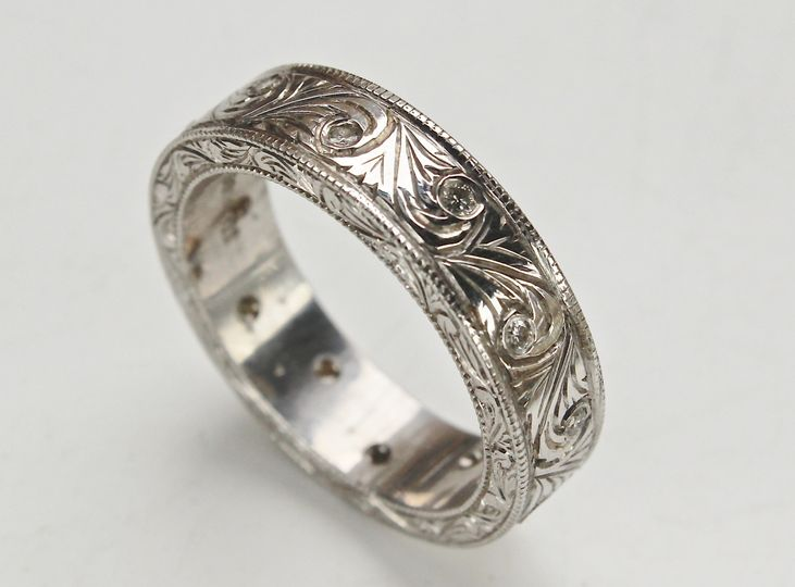 hand carved mens ring 3