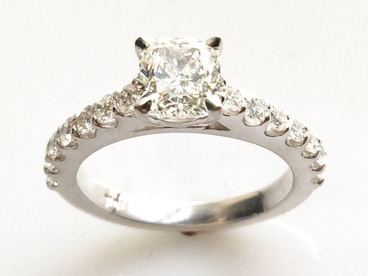 Tmx 1446668805002 Cushion Cut Diamond Ring With Scalloped Shank Boston wedding jewelry