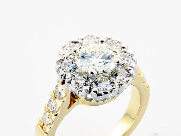 Tmx 1446669277185 Halo Diamond Engagement Ring Yellow Gold Boston wedding jewelry