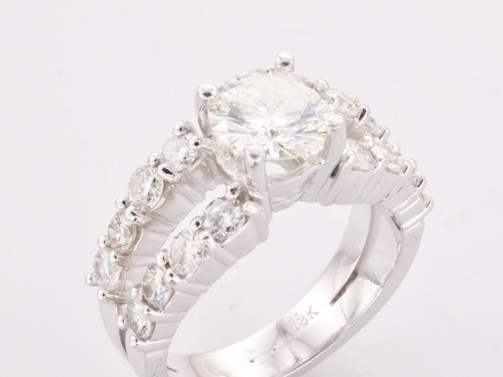 Tmx 1446669307441 Split Shank Diamond Engagement Ring 2 Boston wedding jewelry