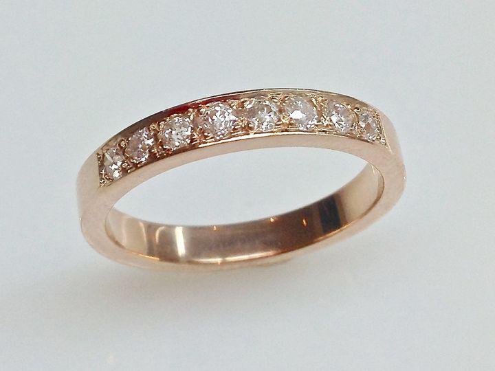 Tmx 1446673859280 Rose Gold Channel Set Diamond Wedding Band Boston wedding jewelry