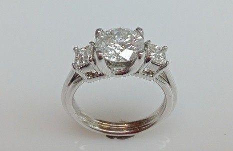 Tmx 1446673991857 Round Princess Cut Three Stone Diamond Engagement  Boston wedding jewelry