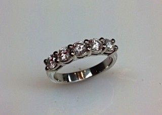 Tmx 1446674008217 Classic 5 Stone Diamond Wedding Band Boston wedding jewelry