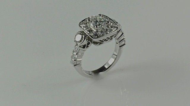 Tmx 1446674081318 Milgrain Engagement Ring Boston wedding jewelry