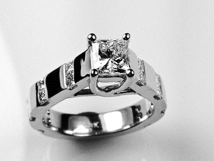 Tmx 1446674090566 Princess Cut Channel Band Boston wedding jewelry