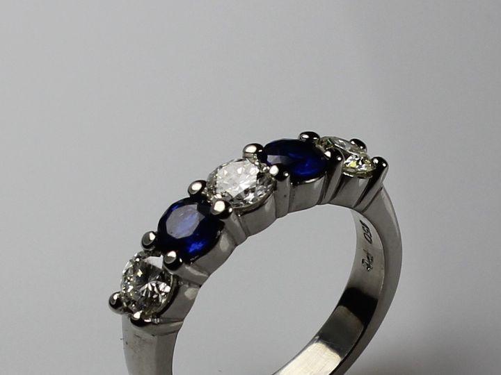 Tmx 1446674105951 Sapphire Diamond Wedding Band Boston wedding jewelry