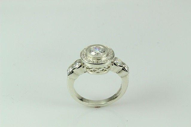 Tmx 1446674114319 Unique Halo Ring 2 Boston wedding jewelry