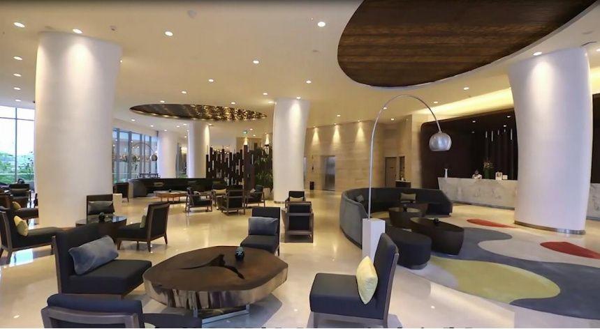 Hotel lobby area