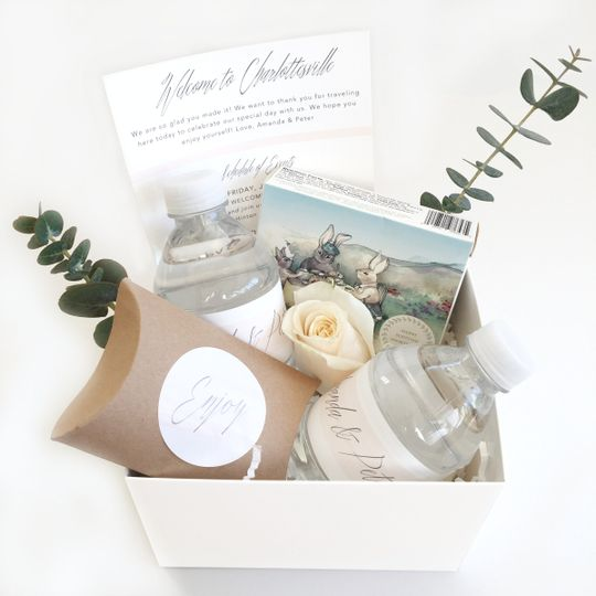 Wedding welcomes favors gifts charlottesville va weddingwire 800x800 1487460573063 rosebudwelcomegift openbox3 solutioingenieria Image collections