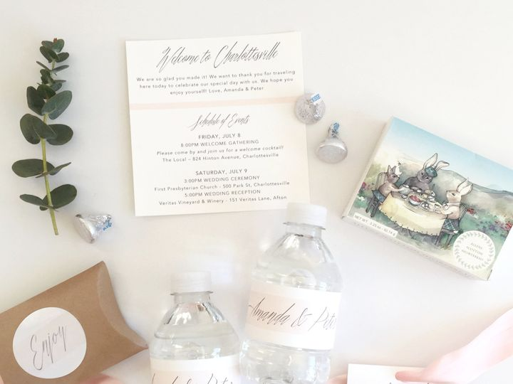 Tmx 1487460459839 Rosebudwelcomegift Contents Charlottesville wedding favor