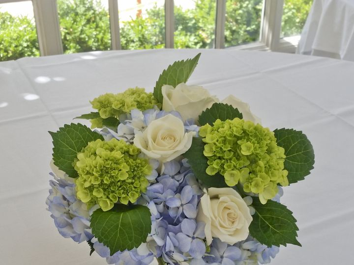 Tmx 1460553926302 Blue Centerpiece Chantilly, VA wedding florist