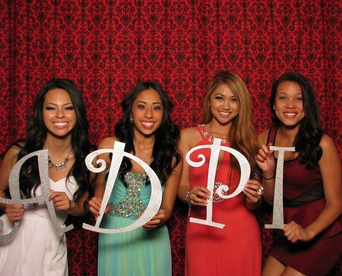 ShutterBooth fun with a damask backdrop!