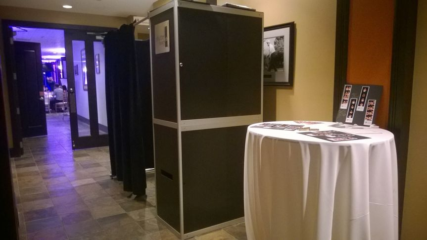 Shutterbooth enclosed with a classic memory book!