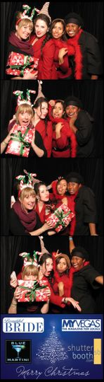 ShutterBooth photo strip!  Holiday party with holiday props!